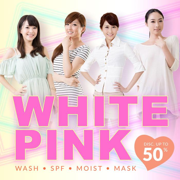 White=pink