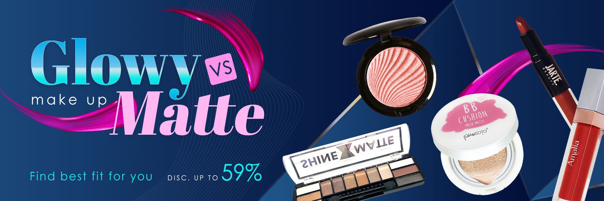 Gloosy Makeup vs Matte Make up