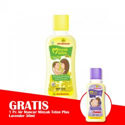 Air Mancur Minyak Telon 60ml (GRATIS 1pc AIR MANCUR MINYAK TELON PLUS LAVENDER 30ml)