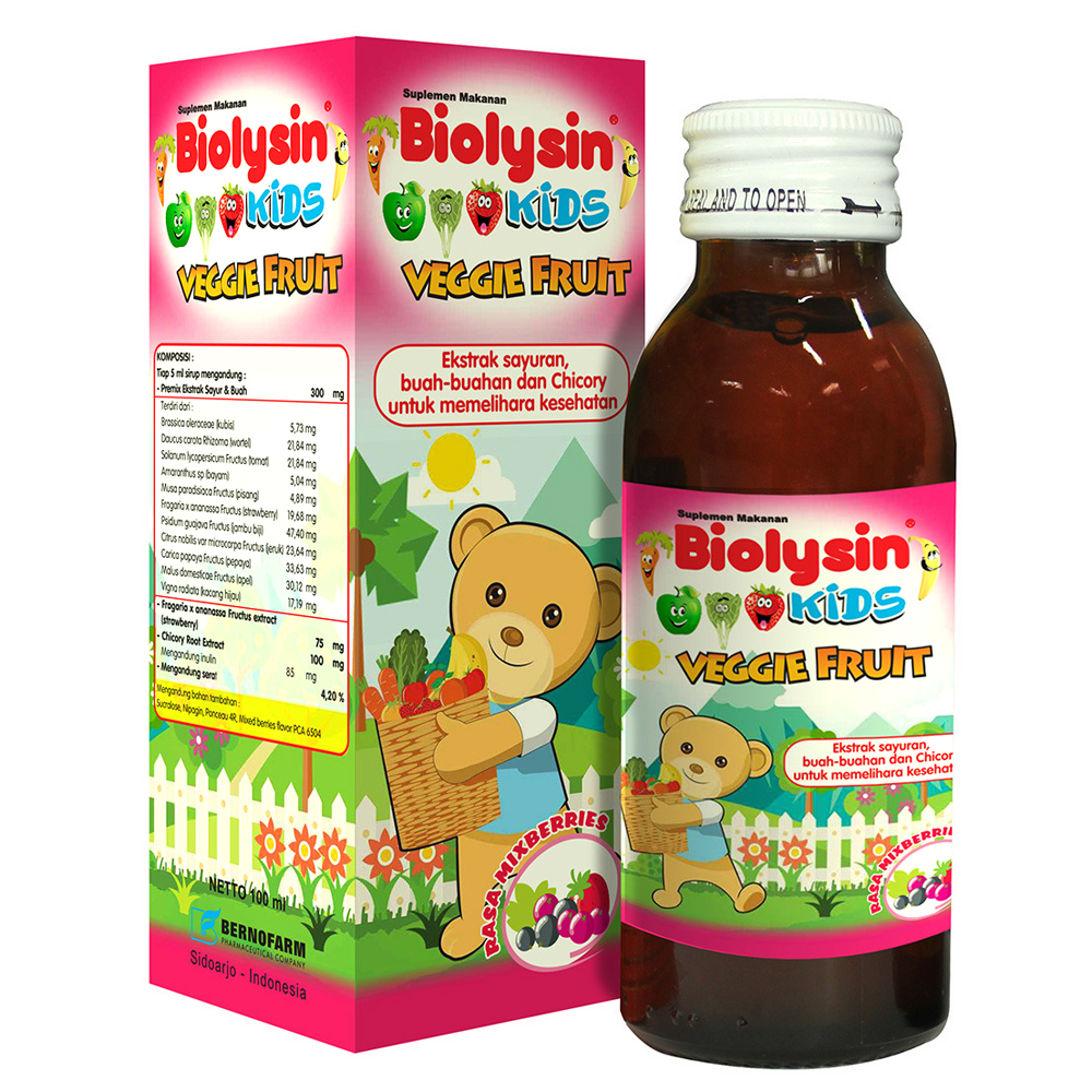 Biolysin Kids Veggie Fruit Mixberries 100ml | Gogobli