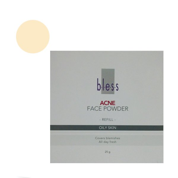Bless Refill Acne Face Powder Natural 25 Gr