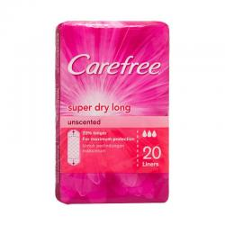Carefree Super Dry Long Unscented Pink 20s