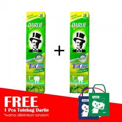 Darlie Tea Care Green Tea 160gr (PAKET ISI 2pcs GRATIS TOTE BAG)