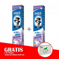 Darlie All Shiny White Multi Care 140gr (PAKET ISI 2pcs GRATIS POUCH)