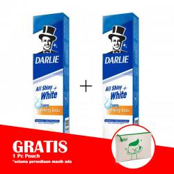 Darlie All Shiny White Baking Soda 140gr (PAKET ISI 2pcs GRATIS POUCH)