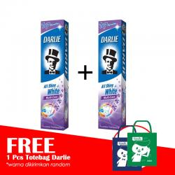 Darlie All Shiny White Multi Care 140gr (2 Pcs) FREE TOTE BAG