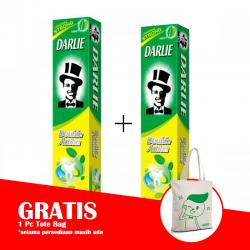 Darlie Double Action 225gr (PAKET ISI 2pcs GRATIS TOTE BAG)