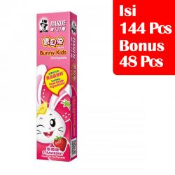 Darlie Kids Junior Strawberry 40gr (PAKET ISI 144 Pcs BONUS 48 Pcs)