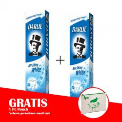 Darlie All Shiny White Original 140gr (PAKET ISI 2pcs GRATIS POUCH)