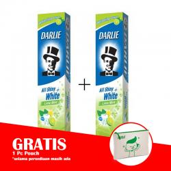 Darlie All Shiny White Lime Mint 140gr (PAKET ISI 2pcs GRATIS POUCH)