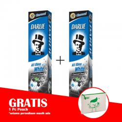 Darlie All Shiny White Charcoal 140gr (PAKET ISI 2pcs GRATIS POUCH)