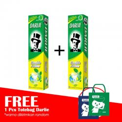 Darlie Double Action 225gr (PAKET ISI 2pc GRATIS TOTE BAG)