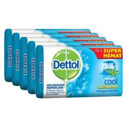 Dettol 65gr Cool Super Hemat 5pcs