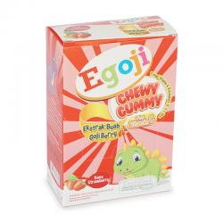 Egoji Chewy Gummy Strawberry Box (5 Sachet @ 20gr)