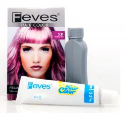 Feves Hair Color 5.8 Purple Red 40ml