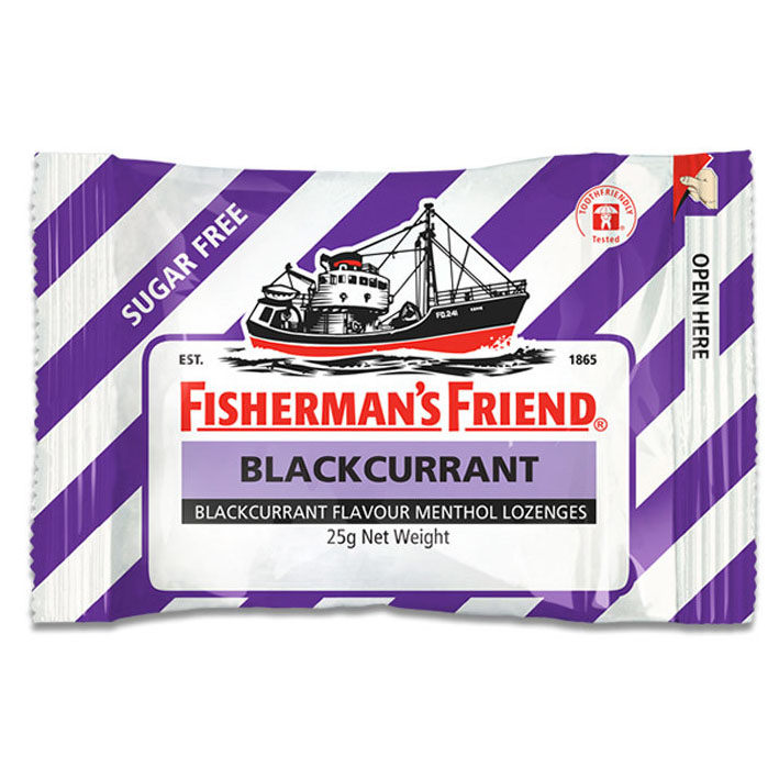 Fishermans Sugar Free Blackcurrant 25gr | Gogobli