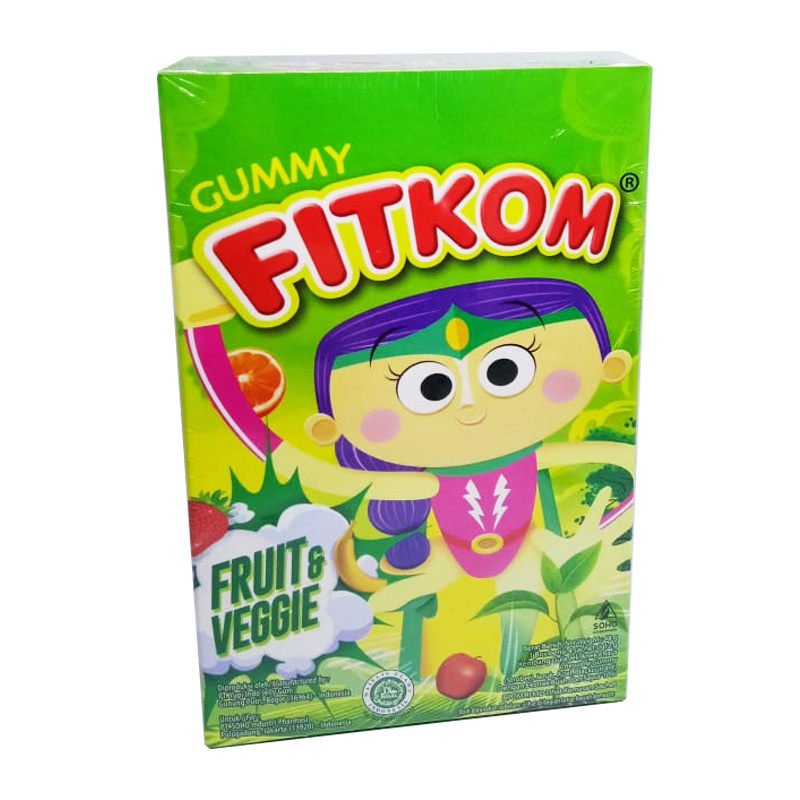 Fitkom Gummy Fruit And Veggie Box (4 Sachet @12gr) | Gogobli
