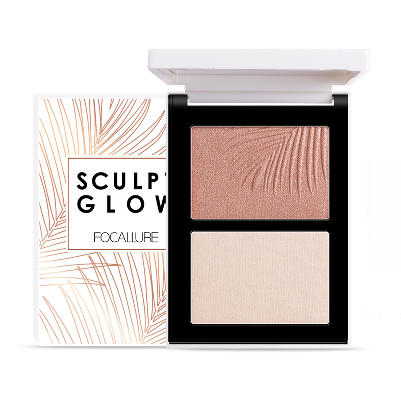 Focallure Powder Contour And Highlight Palette Duo FA69-04 | Gogobli