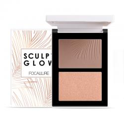 Focallure Powder Contour and Highlight Palette Duo FA69-03