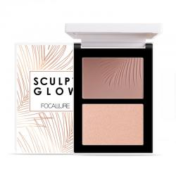 Focallure Powder Contour and Highlight Palette Duo FA69-01