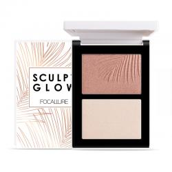 Focallure Powder Contour and Highlight Palette Duo FA69-04