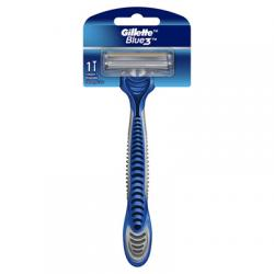 Gillette Blue 3 Elastomer Handle Disposable Lubra Strip 1s