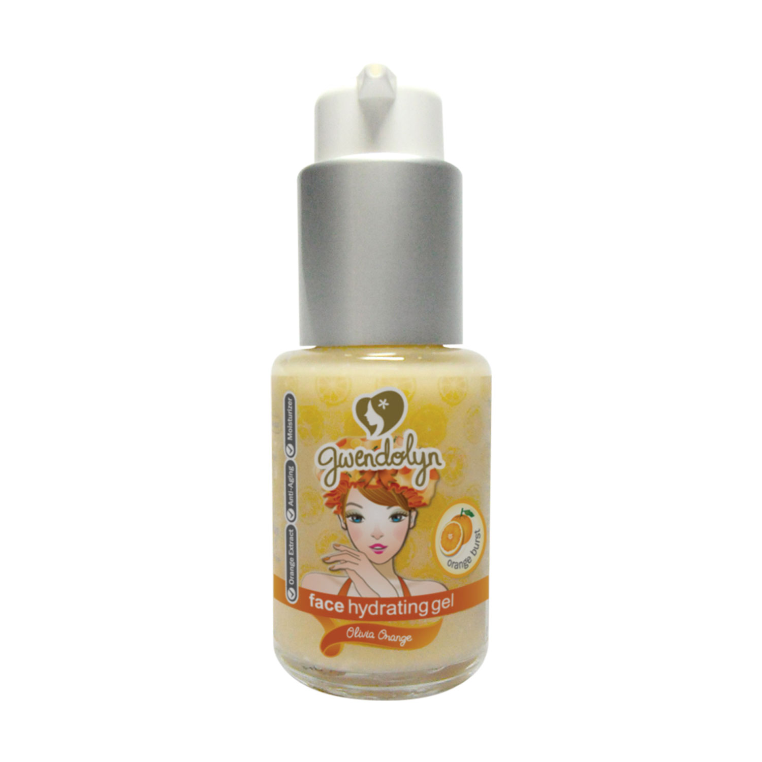 Gwendolyn Face Hydrating Gel Orange 30ml