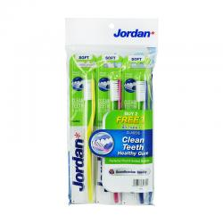 Jordan Adult Toothbrush Entry Classic T14 Soft 3-Pack Assorted Color