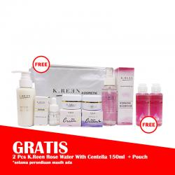 K.Reen Paket Galactomyces (GRATIS 2 Pcs K.Reen Rose Water With Centella 150ml+Pouch)