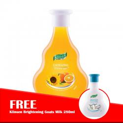 Klinsen Shower Gel Energizing 280ml (FREE Klinsen Brightening Goats Milk 280ml)