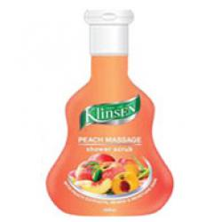 Klinsen Shower Scrub Peach Massage 280ml