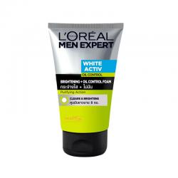 Loreal Men Expert White Active Oil Control Deep Clean Foam 100ml