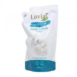 Lovial Shower Cream Goats Milk and Pearl Refill 500ml
