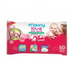 Mamy Love Baby Wipes with Chamomile and Aloevera 50s