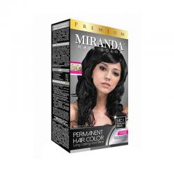 Miranda Hair Color Premium Natural Black 60ml