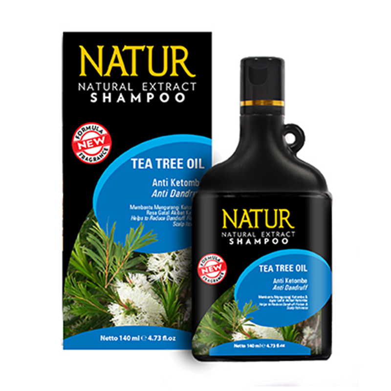 Natur Shampoo Tea Tree Oil-Anti Dandruff 140ml | Gogobli