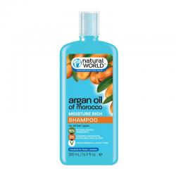 Natural World Argan Oil Of Morocco Moisture Rich Shampoo 500ml
