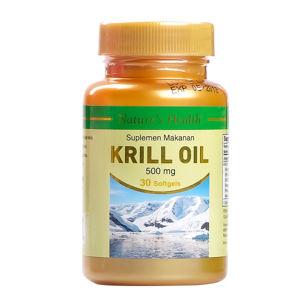 Natures Health Krill Oil 500 MG 30 Softgels | Gogobli