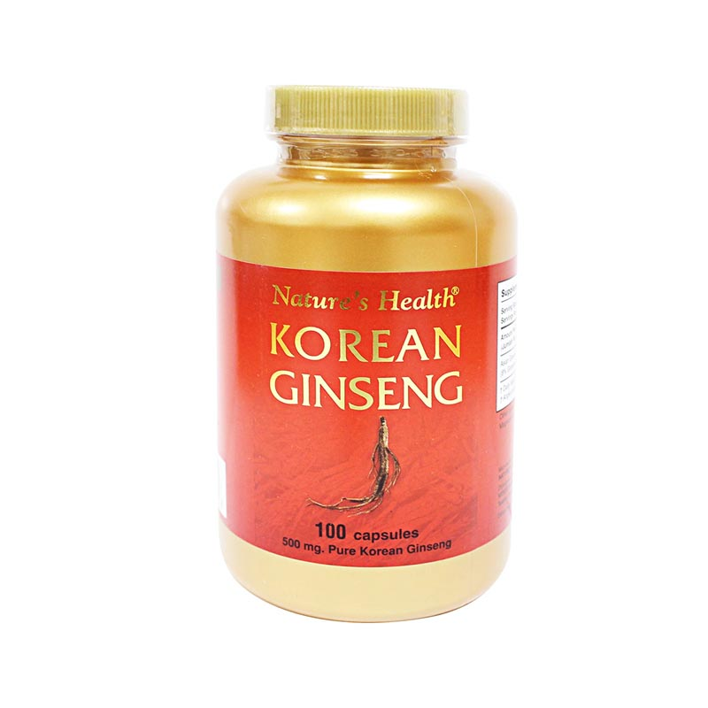 Natures Health Korean Ginseng 100caps