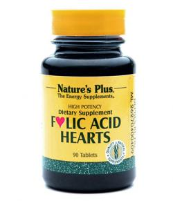 Natures Plus Folic Acid Hearts 90 Tablet - Asam Folat