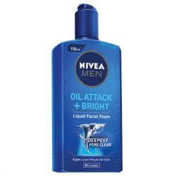 Nivea Men Oil Attack Plus Bright Liquid Facial Foam 150ml