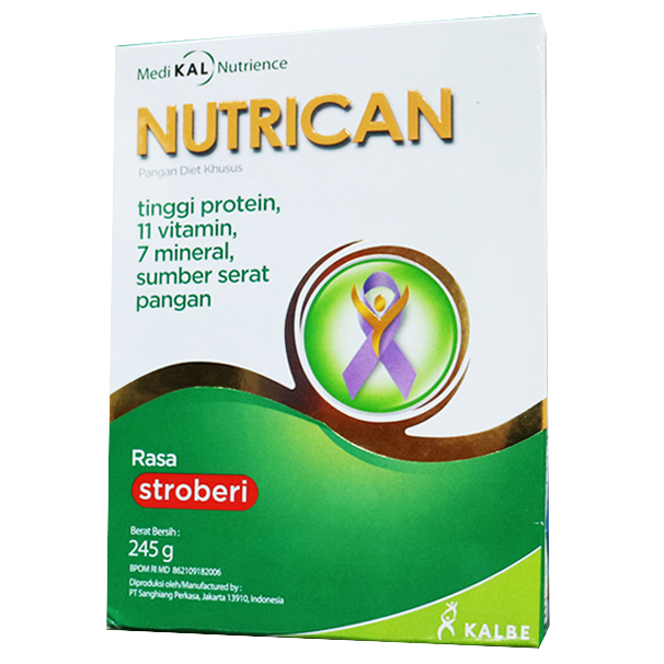 Nutrican Milk Strawberry 245gr