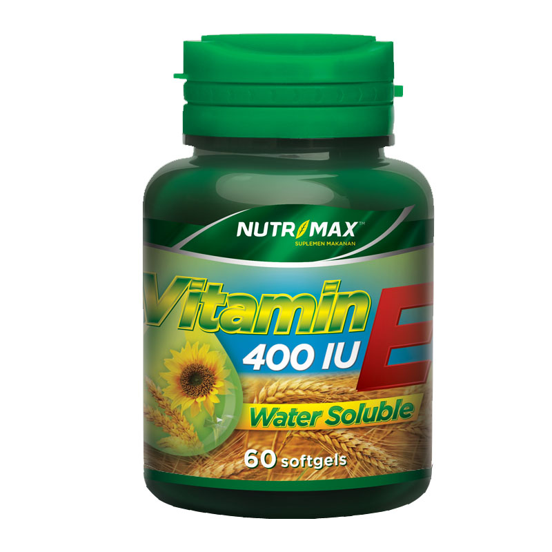 Nutrimax Vitamin E 400 IU Water Soluble 60 Softgels | Gogobli