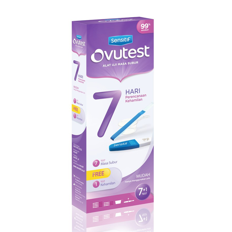 Ovutest 7 Days Plan FREE 1pc Sensitif Compact | Gogobli
