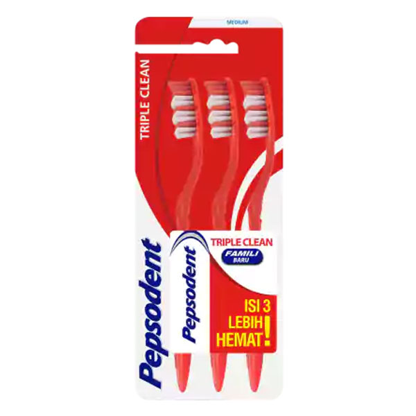 Pepsodent TB Triple Clean Med MP 3Pc | Gogobli