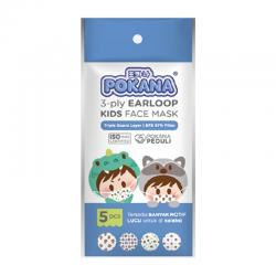 Pokana 3 Ply Surgical Face Mask Earloop Kids 5s
