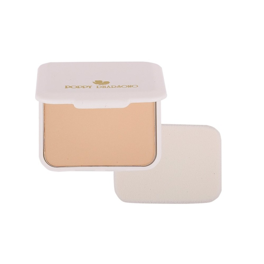Poppy Dharsono Cosmetics Absolute Cover Two Way Cake Refill 01 Ivory Gogobli
