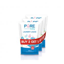 Pure Baby Laundry Liquid Refill 700ml Buy 2 Get 1 Free