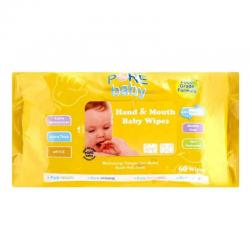 Pure Baby Hand and Mouth Baby Wipes Orange 60s