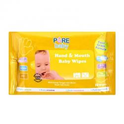 Pure Baby Hand and Mouth Baby Wipes Orange 10s